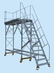 Platforma serwisowa- Schody lewe i prawe do serwisu pojazdów szynowych, powietrznych, autobusów